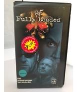 VTG WWF Fully Loaded The Rock Triple H Undertaker VHS 2000 WWE Chris Jer... - $24.63