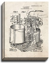 Beer Scale Patent Print Old Look on Canvas - $39.95+