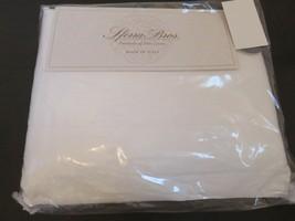 Sferra Long Staple Italian Sateen 300TC 4P King Sheet Set White NEW $379 - $145.45