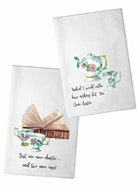 Bailey & Browne White Vintage Tea Pot and Cups Flour Sack Towel Set | Tw... - $35.75