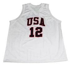James Harden #12 Team USA New Men Basketball Jersey White Any Size image 4