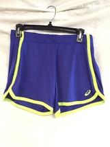 NWT Women's ASICS Court Shorts Running Tennis Crossfit Blue Medium - $24.25