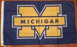 University Of Michigan NCAA Wolverines 3 x 5 Banner Flag College Fan Support - $17.05