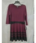 By & By 3/4 Sleeve Bordeaux Knit Sweater Dress Sz XL NEW 0909 - $26.99