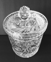 Vintage Crystal Ice Bucket ABP American Brilliant Period Cut Glass Canis... - $88.99