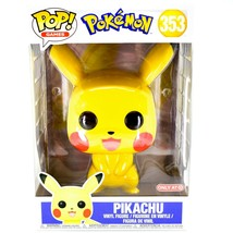 "Funko Pop Games Pokemon Pikachu #353 Target Exclusive 10"" Vinyl Figure - $39.59"