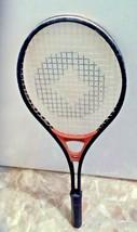 Vintage Spalding Metal Tennis Racket Black Red Center Diamond Pattern #2043 - $9.80