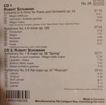 Robert Schumann  Piano Concerto A Minor / Symphony No.4; Symphonies No 1 & 3 Cd image 2