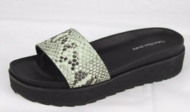 Calvin Klein Jeans women's sandals wedge heel black animal print size 6 - $38.47