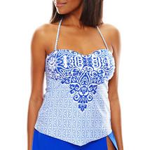 Liz Claiborne Indigo Nights Scarf Bandeaukini Swim Top Size 6 New - $24.99