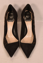Christian Dior Womens Leopard Print Calfhair Suede Sponge Black Heels Pump 36.5 - $396.00