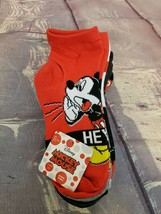 Disney Mickey Mouse Unisex Ankle Socks 6 pairs Size S/M Youth (9- 2.5) - $6.64