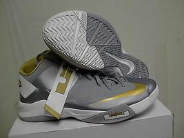 Herren Nike Schuhe Zoom Lebron James Soldaten Vi Tb Größe 11.5 Grau, Gold - $131.13