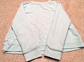 Girl's Gap Kids Long Sleeve Sequin Logo Aqua Sweatshirt (S) image 3