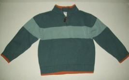 Gymboree Boys Sweater Sz 4 Blue Orange Color Block Camp Scout Half Zip Pullover - $21.55