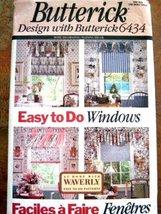 Butterick Pattern 6434 Waverly Window Valances & Shade - $11.76