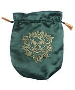 Green Satin Green Man Tarot Bag - $13.11 CAD+
