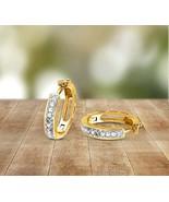 10 K Yellow Gold 3/8 CT Lab Grown Diamond Huggie Earring for women IGI C... - $280.99