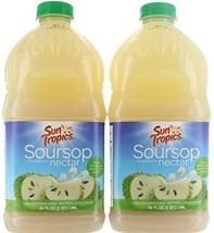 Pack 2, Sun Tropics Soursop Guanabana Nectar tropical fruit 64 FL / 1.89 Liter M
