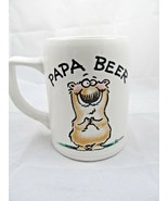 "Shoebox Greetings Hallmark Bowers ""Papa Beer"" Tall Ceramic Coffee Mug Cu... - $14.80"