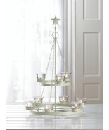 White Metal Tree Chandelier with Star  Centerpiece - $32.99