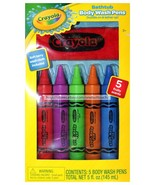 CRAYOLA 5pc Colored BODY WASH PENS w/Red Wash Cloth SCENTED GBG Beauty K... - $8.10