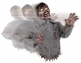 Animated Bump and Go Zombie  Sound Prop Halloween Decor Poseable Arms - €44,02 EUR