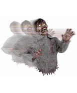 Animated Bump and Go Zombie  Sound Prop Halloween Decor Poseable Arms - £37.82 GBP