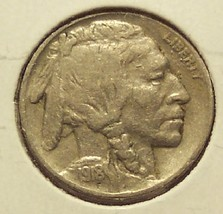 1918 Buffalo Nickel F15+ FULL DATE #1198 - $6.39
