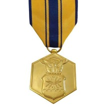 Genuine U.S. Full Size Medal: Air Force Commendation - 24K Gold Plated - $17.80