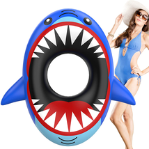 Inflatable Swimming Shark Float Water Floating Pool Summer Beach Lounge Bed - $29.69