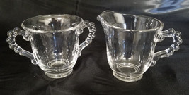 Vintage Imperial Glass Candlewick Creamer and Sugar Set (circa 1930s) - $18.00