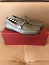 Salvatore Ferragamo $495 Gray Leather Moccasins In Size 7UK--8US.! NIB ! - $246.51