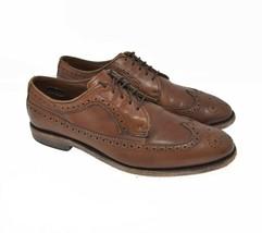 Allen Edmonds McGregor Men's Sz 9D Brown Leather Oxford Brogue Wingtip Dress - $99.99