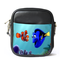 Sling Bag Leather Shoulder Bag Nemo And Dory Clown Fish Animation Fantasy Disney - $14.00
