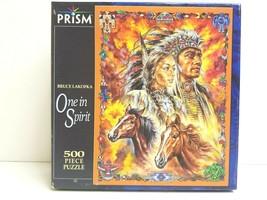 Bruce Lakofka One in Spirit 500 Pc Prism Puzzle Native Southwest Art Gif... - $24.74