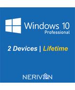 Microsoft Windows 10 Pro / Professional | 2 Devices | Genuine Product Key  - $23.99