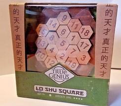 Lo Shu Square True Genius  Brain Teaser Wooden Puzzle Recent Toys - $18.49