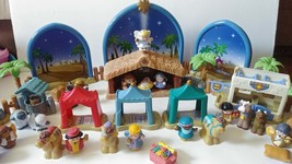 Fisher Price Little People Christmas Deluxe Nativity Set The Inn Huge 41... - $285.99