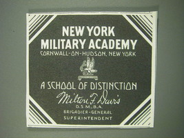 1930 New York Military Academy Ad - A school of distinction - $14.99