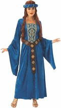 Adults' Medieval Maiden Dress & Headpiece Halloween Costume Small 6-10 R... - $29.69