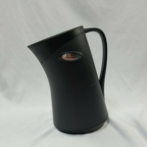 Primary image for Starbucks Thermal Coffee Carafe Pitcher By Migo 32 oz. Black Slant Design