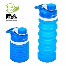 Collapsible Water Bottle BPA Free FDA Approved Food-Grade Silicone Portable - $478,37 MXN