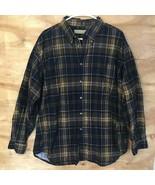* Naturalize Men's Sz XL  long sleeve button down shirt Brown Plaid Cotton - $18.70
