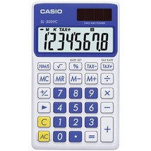 Casio Solar Wallet Calculator With 8-digit Display (blue) CIOSLVCBESIH - $13.89