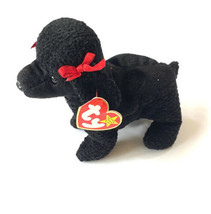 Vtg Ty Beanie Baby GiGi 1997 Poodle Dog Tag Errors Plush Toy Rare PE New - $10.88