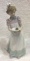 "Happy Birthday Lladro Figurine Excellent Shape 8"" Girl w Cake No Box SHP - $123.75"