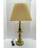 "Stiffel Lamp Brass Mid-Century Modern  With Shade 28"" New Cord - $80.18"