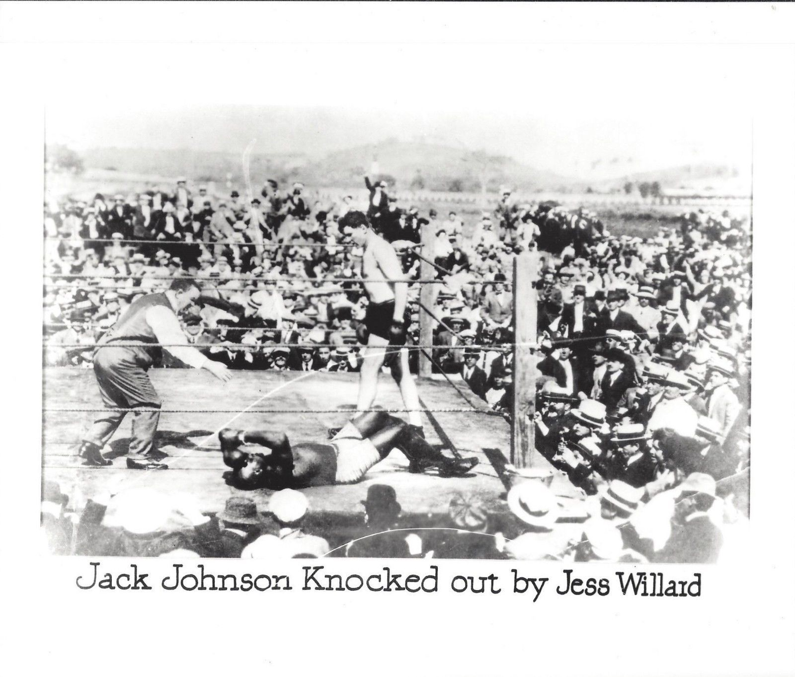 Primary image for JACK JOHNSON KNOCKED OUT BY JESS WILLARD PHOTO BOXING PICTURE