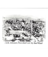 JACK JOHNSON KNOCKED OUT BY JESS WILLARD PHOTO BOXING PICTURE - $3.95